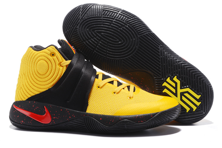 New Nike Kyrie 2 Yellow Black Red Shoes