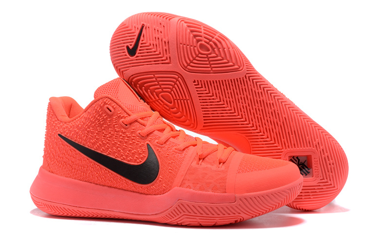 New Nike Kyrie 3 All Red Black Shoes