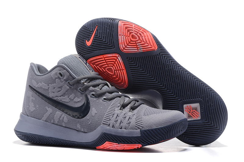 finest selection 49be5 538b2 New Nike Kyrie 3 Carbon Grey Black Red Shoes [NKOBE3982 ...