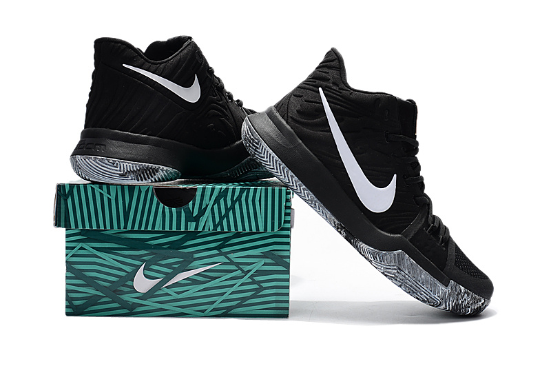 New Nike Kyrie 3 EP BHM Black Grey Gold Shoes