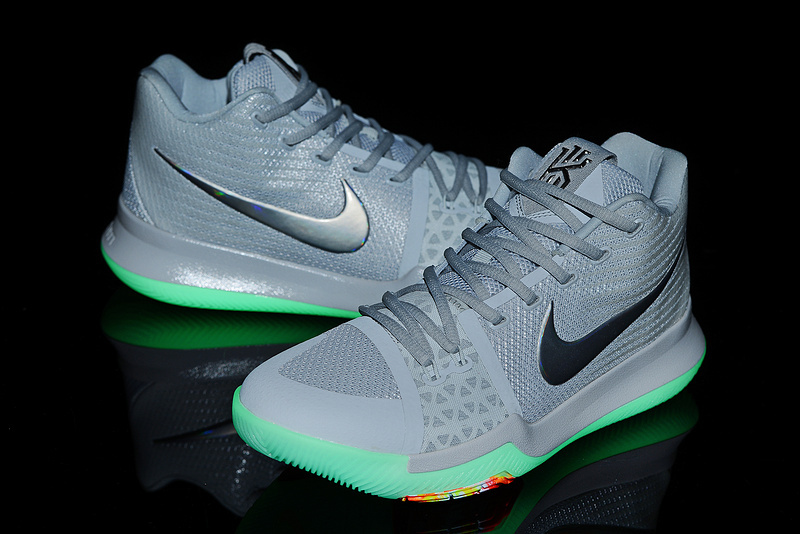 New Nike Kyrie 3 Grey Silver Shoes