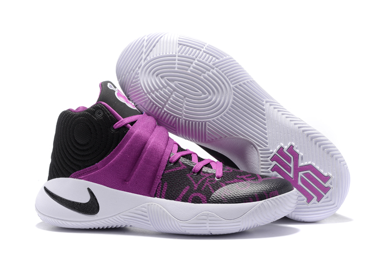 New Nike Kyrie 2 Purple Black White Shoes