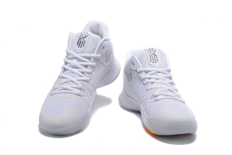 New Nike Kyrie 3 White Colorful Shoes