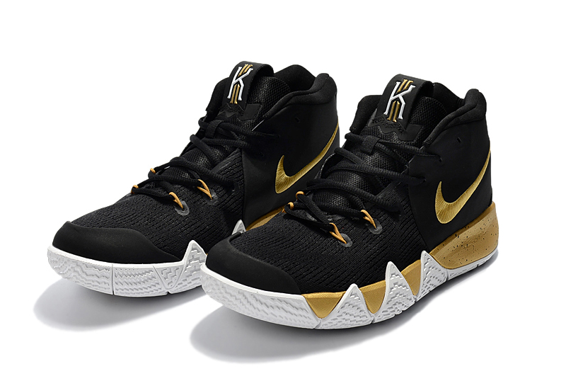 New Nike Kyrie 4 Black Gold Shoes