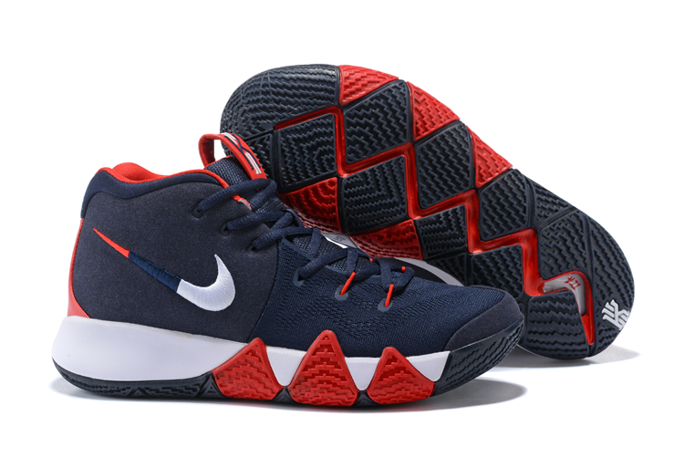 New Nike Kyrie 4 USA Team Deep Blue Red Shoes