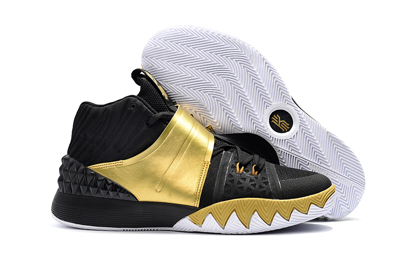 New Nike Kyrie S1HYBRID Black Gold Shoes