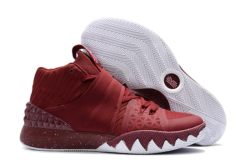 New Nike Kyrie S1HYBRID Wine Red White Shoes