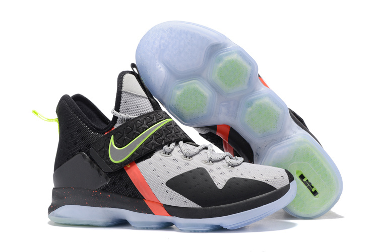 New Nike Lebron James 14 Grey Black White Red Green Shoes