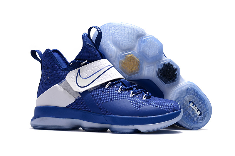 New Nike Lebron James 14 Sport Blue White Shoes