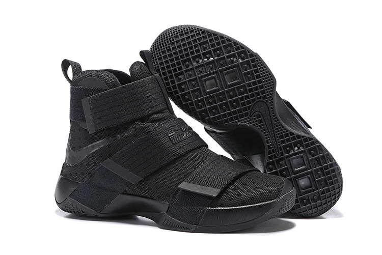 New Nike Lebron Soldier 10 All Black Worriors Shoes