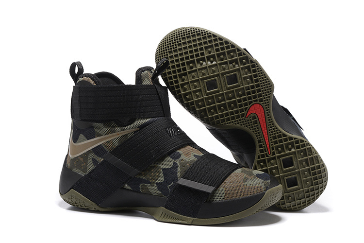 New Nike Lebron Soldier 10 Army Black Basketball Shoes