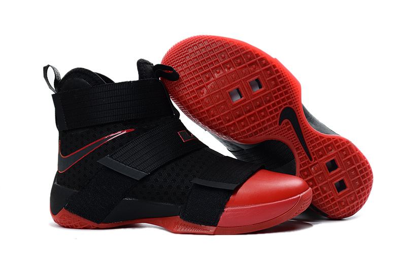 New Nike Lebron Soldier 10 Black Red Shoes