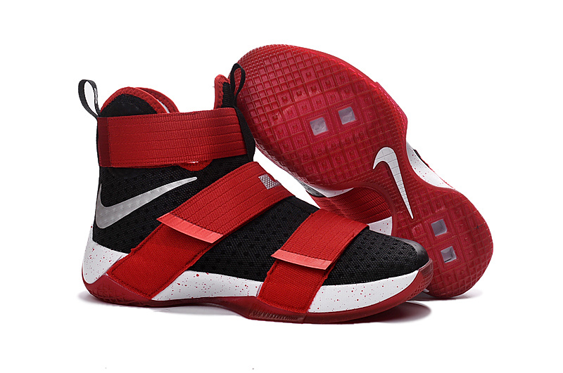 New Nike Lebron Soldier 10 Red Black White Shoes