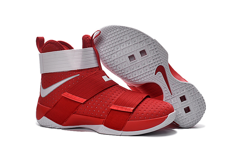 New Nike Lebron Soldier 10 USA Red White Shoes