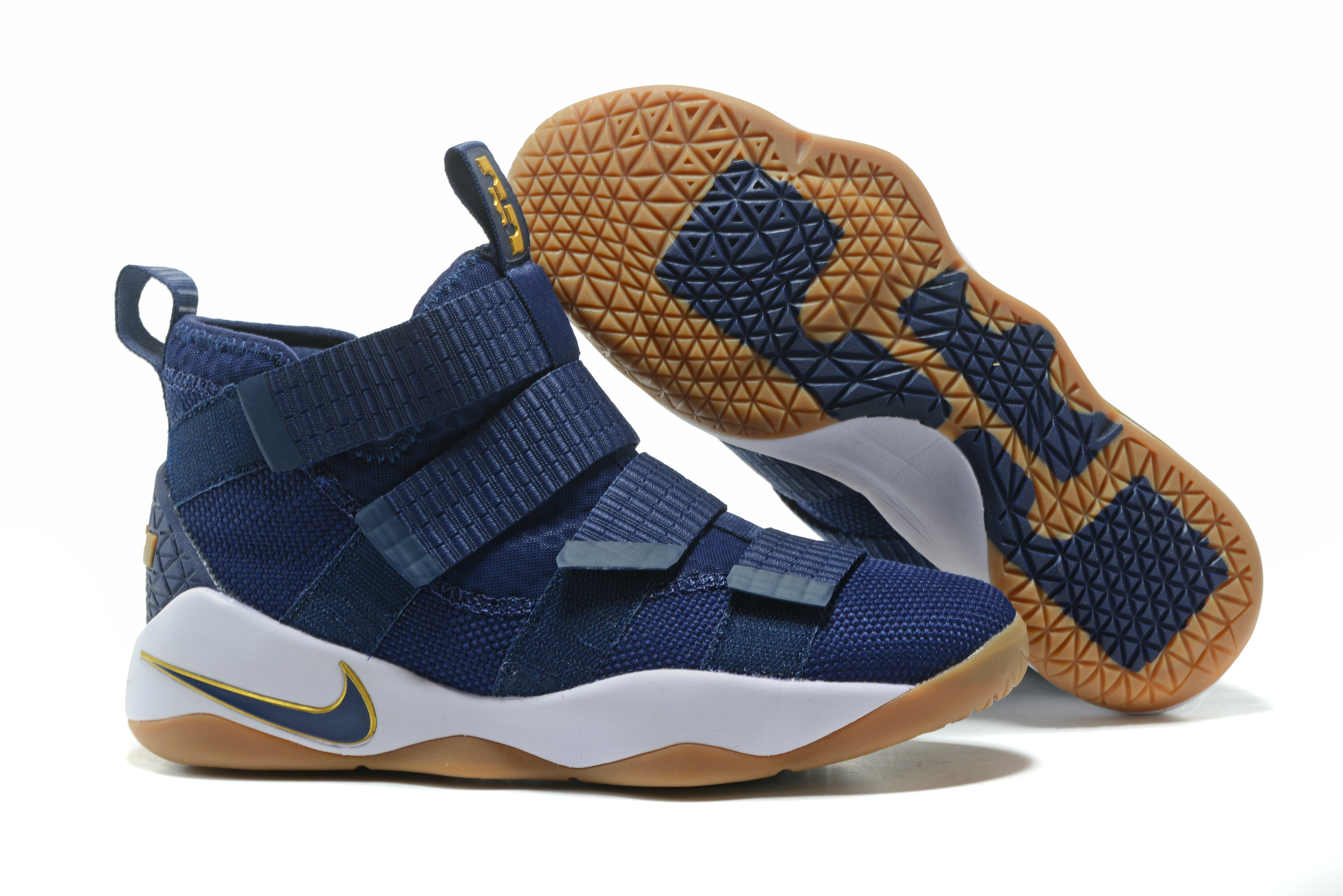 New Nike Lebron Soldier 11 Royal Blue Gum Shoes