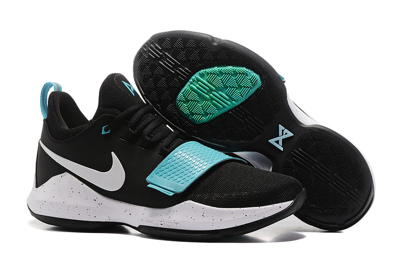 New Nike PG 1 Black Jade Blue White