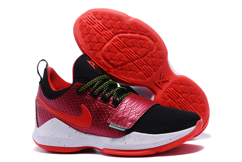 New Nike PG 1 Brilliant Red Black Shoes