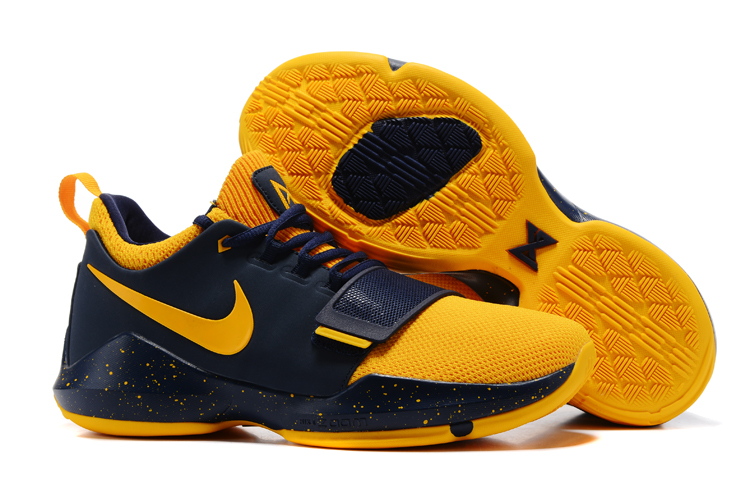 New Nike PG 1 Deep Blue Yellow Shoes
