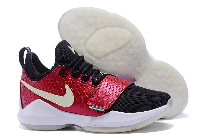 New Nike PG 1 Red Black White Shoes