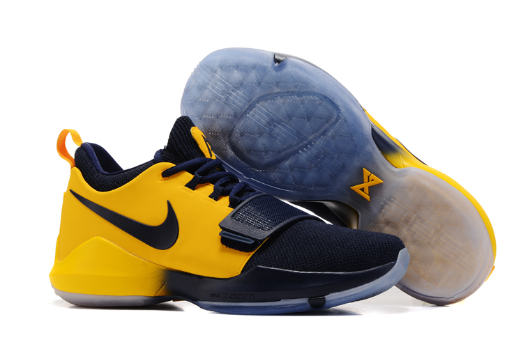 New Nike PG 1 Yellow Deep Blue Shoes