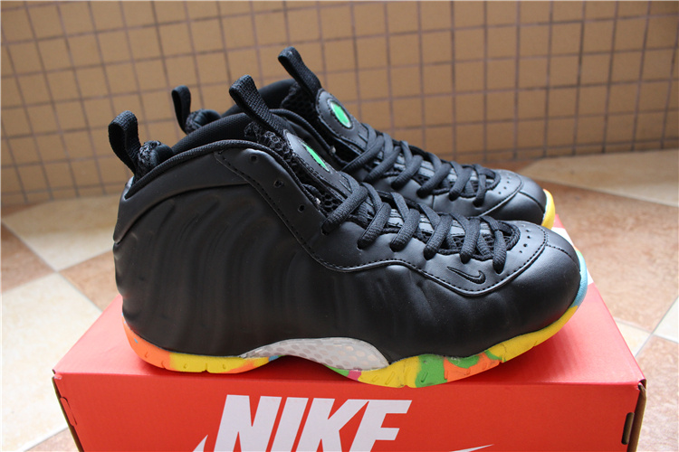 New Nike Penny Hardaway Black Colorful Sole Basketball Shoes For Women