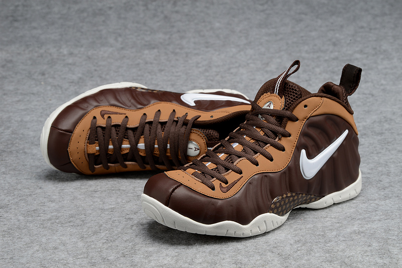 New Nike Penny Hardaway Coffe White Shoes