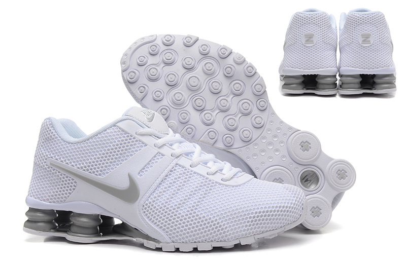 New Nike Shox Current All White Shoes
