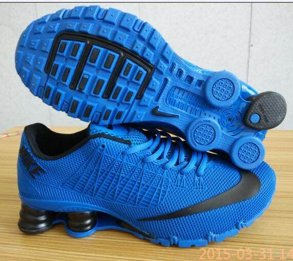 the latest f3cab bb73d ... pre order 8fec5 27af4 New Nike Shox Turbo All Blue Black Swoosh Shoes   Mens ...