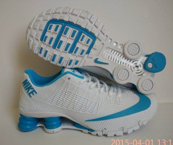 New Nike Shox Turbo White Blue Shoes For Women