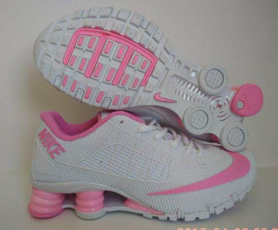New Nike Shox Turbo White Pink Shoes For Women