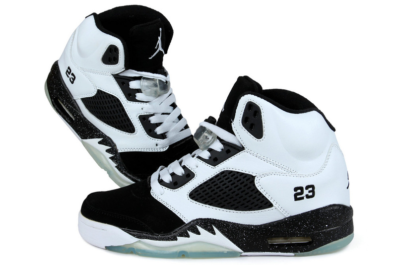New Nike Air Jordan 5 Oreo White Black Shoes