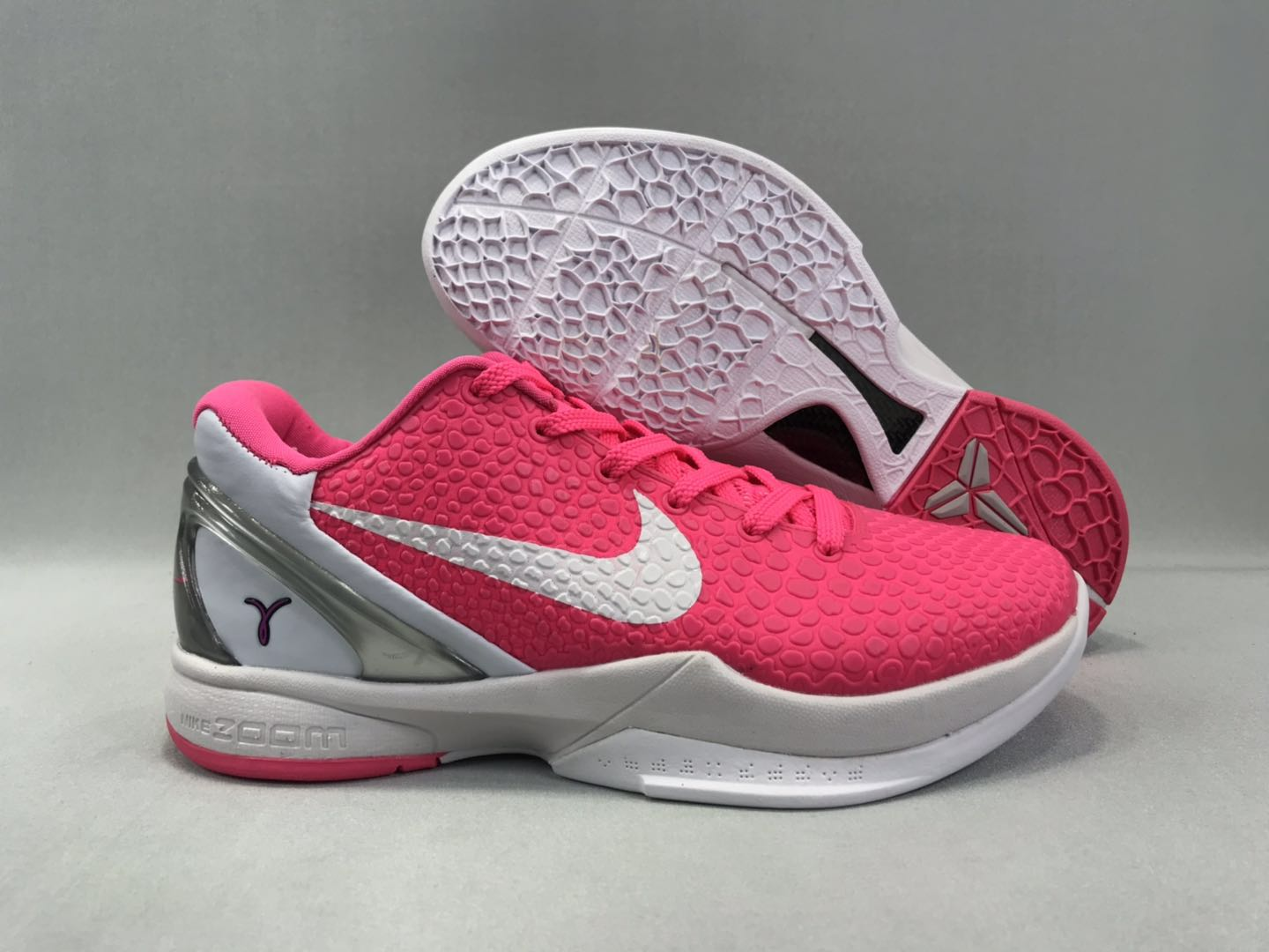 New-release Nike Kobe 8 All Pink White Shoes