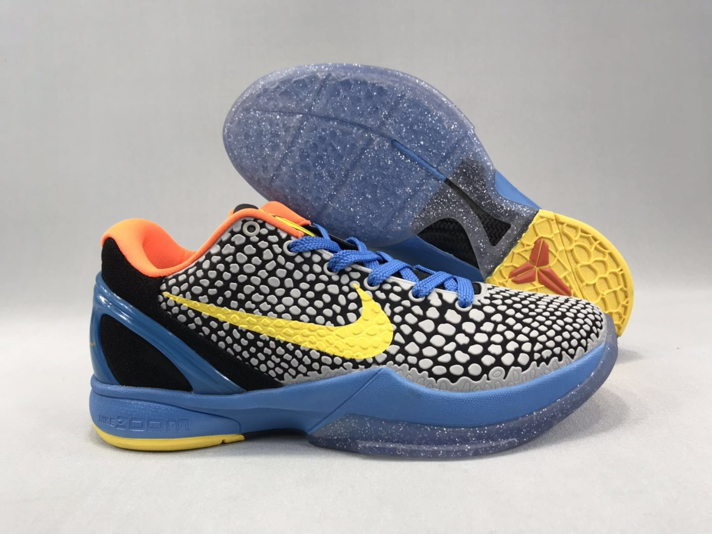 New-release Nike Kobe 8 Snake Skin Gfrey Black Yellow Blue Shoes