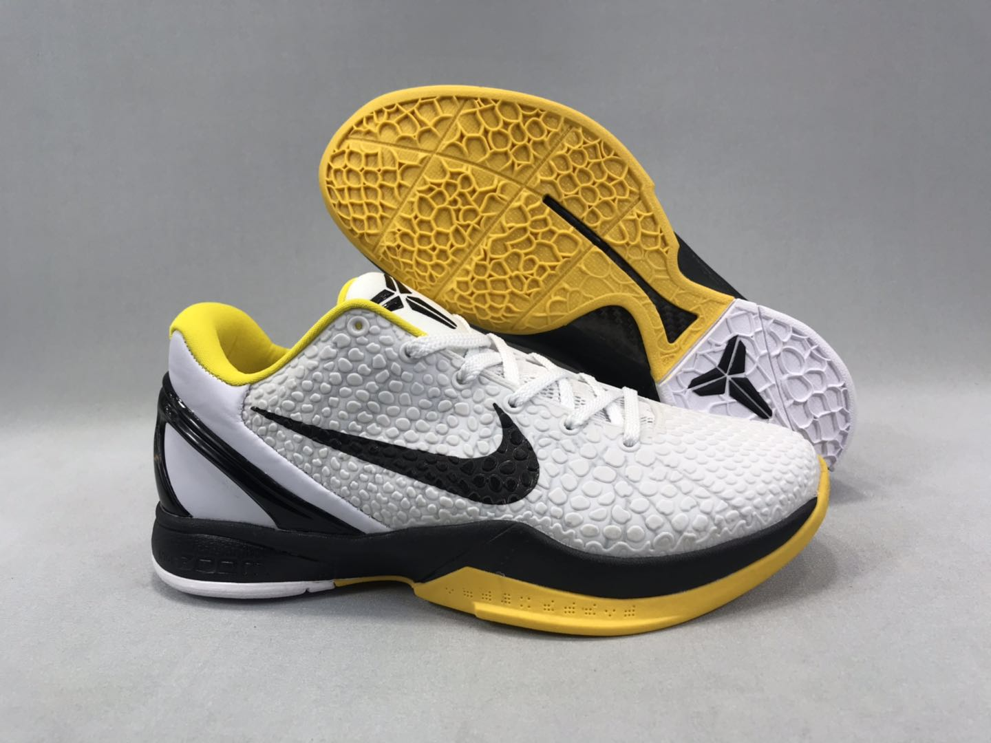New-release Nike Kobe 8 White Black Yellow Shoes