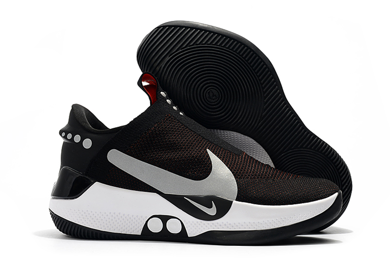 Nike Adapt BB Black Wine Red Silver Basketball Shoes