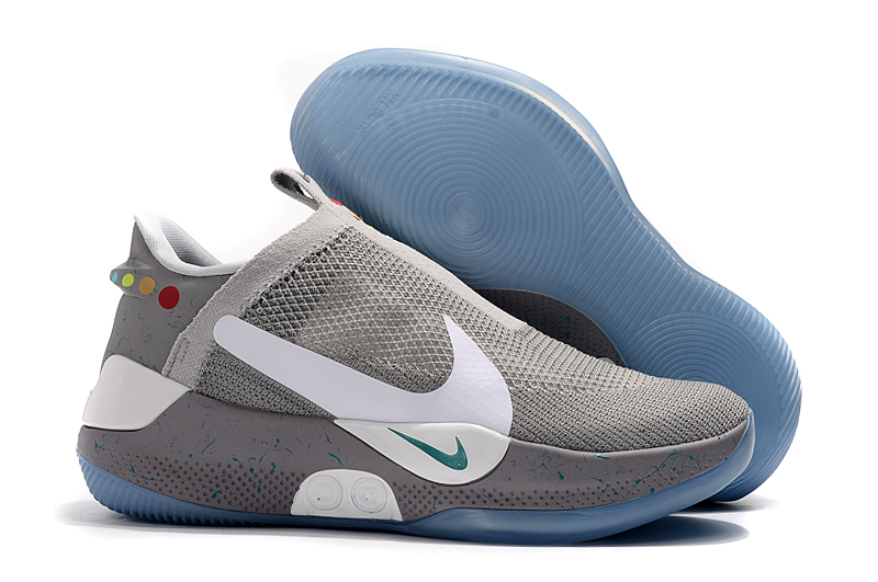 Nike Adapt BB Grey White Blue Sole Shoes