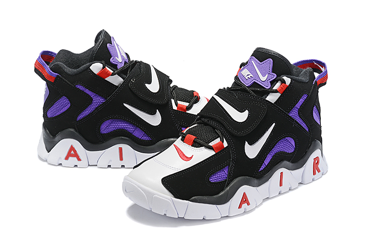 Nike Air Barrage Mid QS Black Purple White Red Shoes