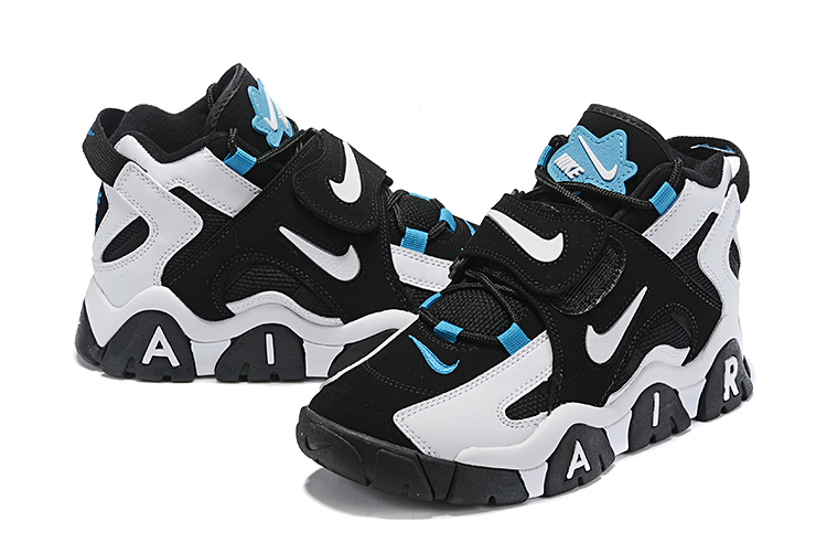 Nike Air Barrage Mid QS Black White Jade Shoes