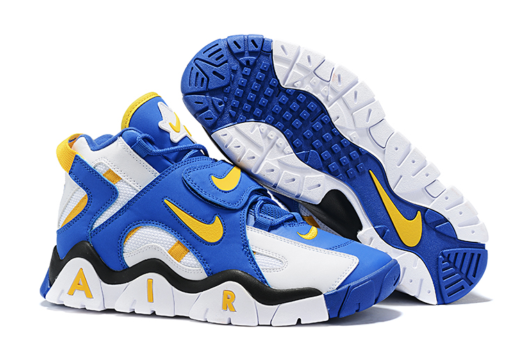 Nike Air Barrage Mid QS Blue Yellow White Shoes
