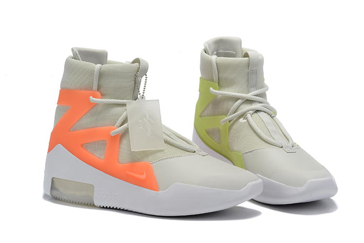 Nike Air Fear of God Grey Orange Green Shoes