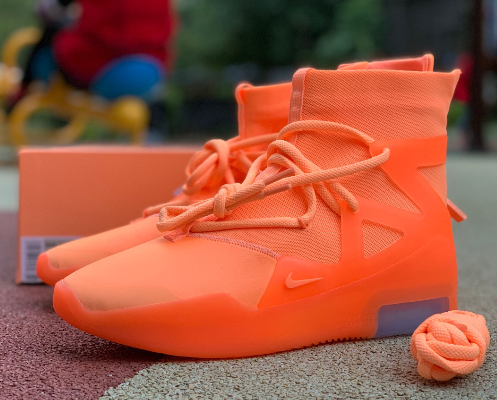 Nike Air Fear of God Orange Shoes
