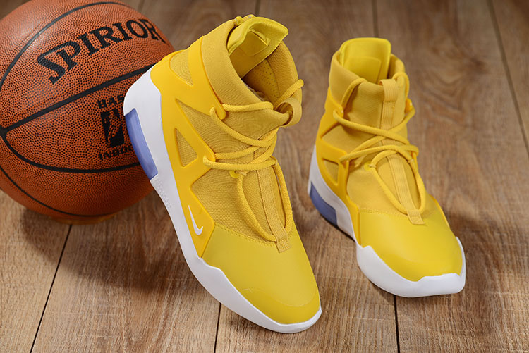 Nike Air Fear of God Yellow White Shoes