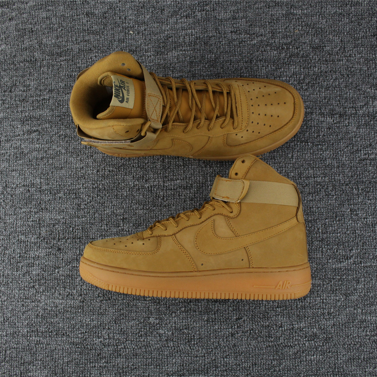 Women Nike Air Force 1 High Wheat Yellow Shoes  18kobe11210 ... 5e2b68a62a