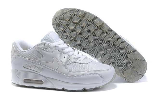 Nike Air Max 90 Mens Premium White Grey Shoes