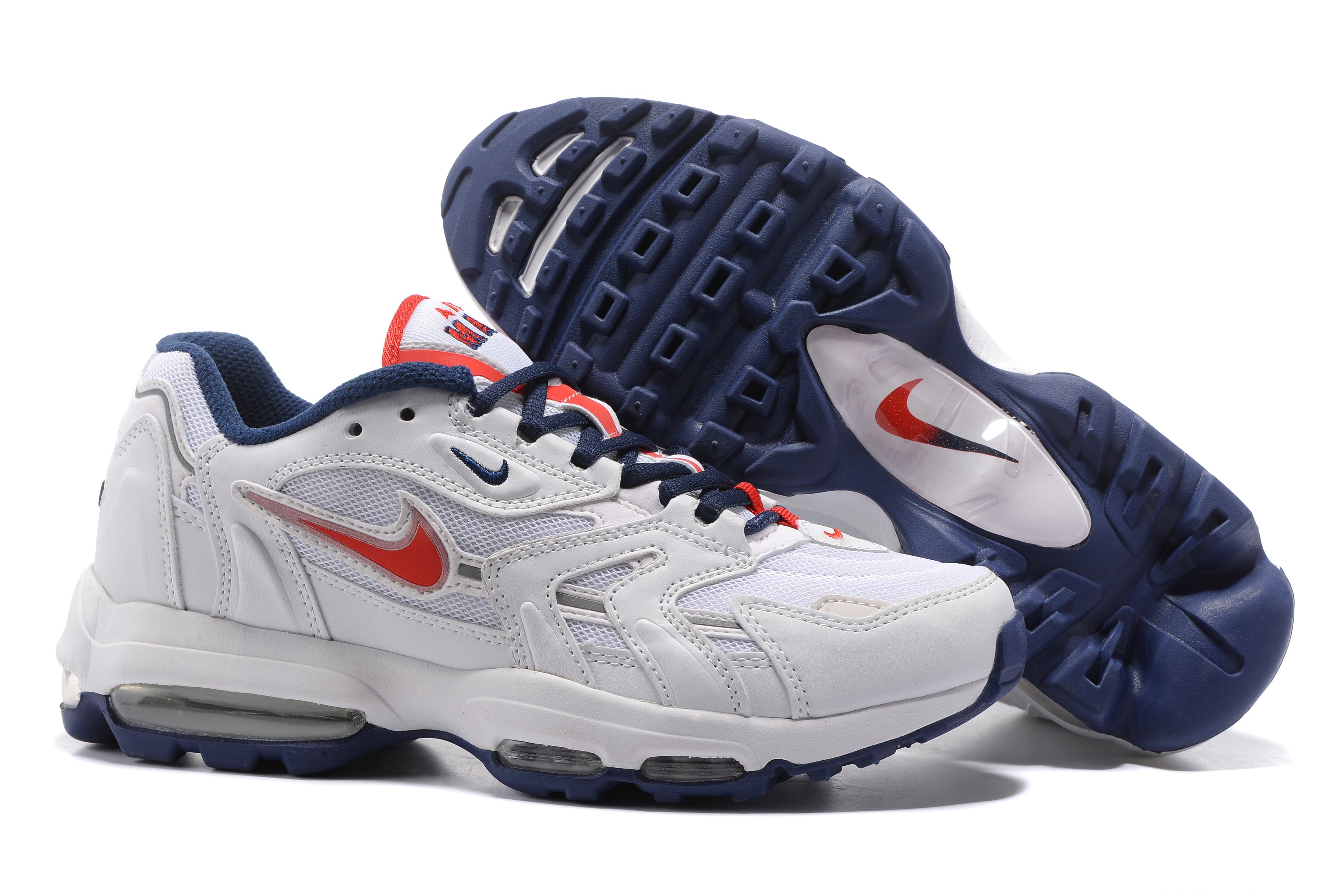 Nike Air Max 96 White Blue Red Shoes