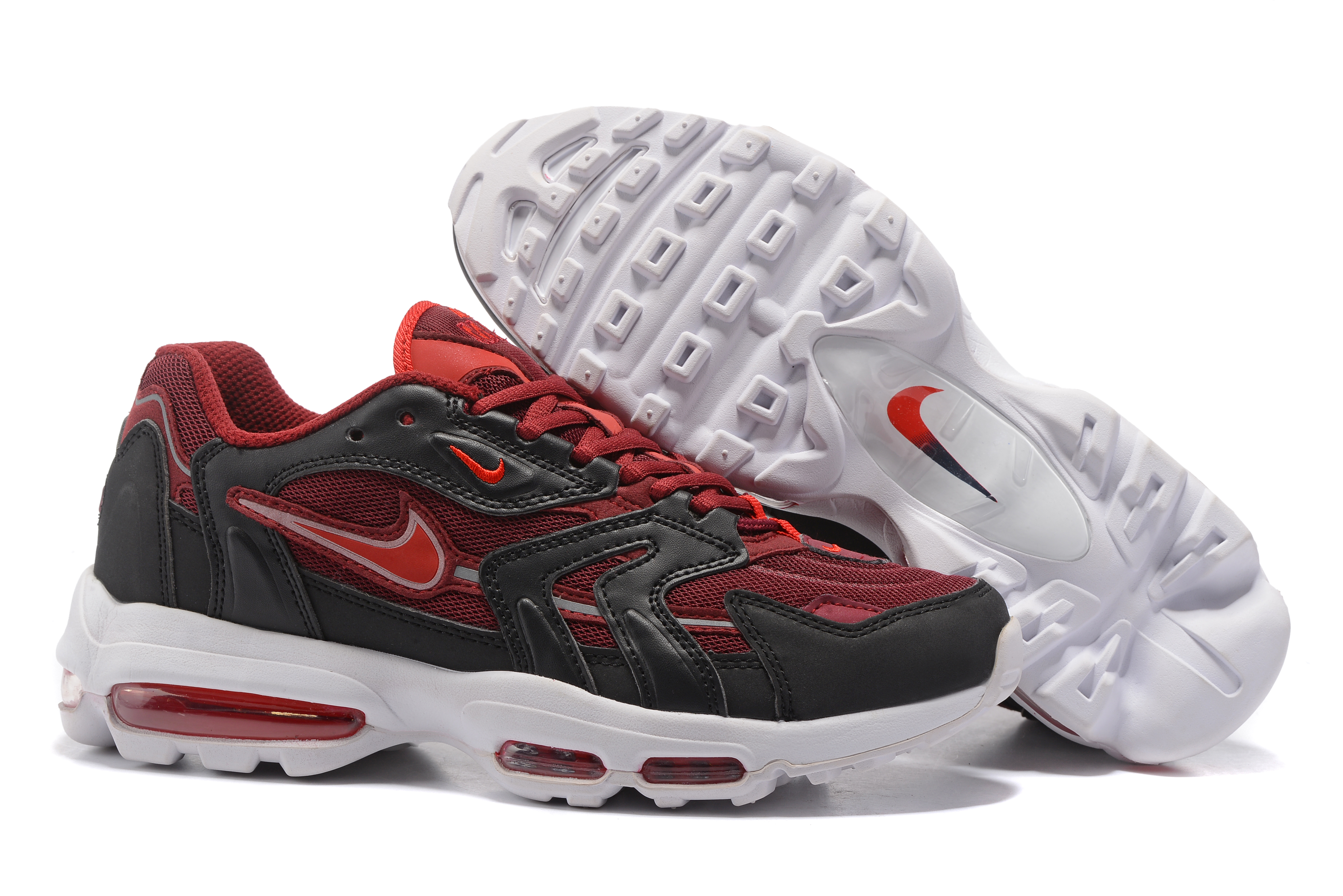 Nike Air Max 96 Wine Red Black White Shoes