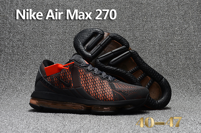 Nike Air Max Flair Hot Carbon Black Reddish Orange Shoes