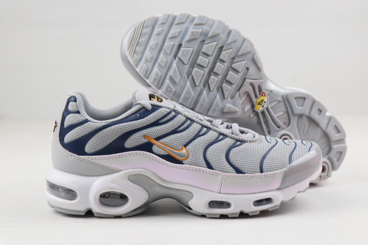 Nike Air Max PLUS Grey Blue White Yellow For Women