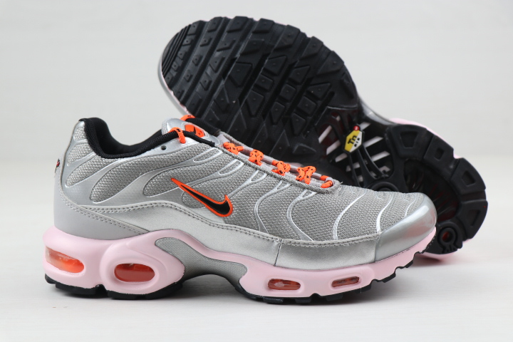 Nike Air Max PLUS Silver Grey Orange Black For Women