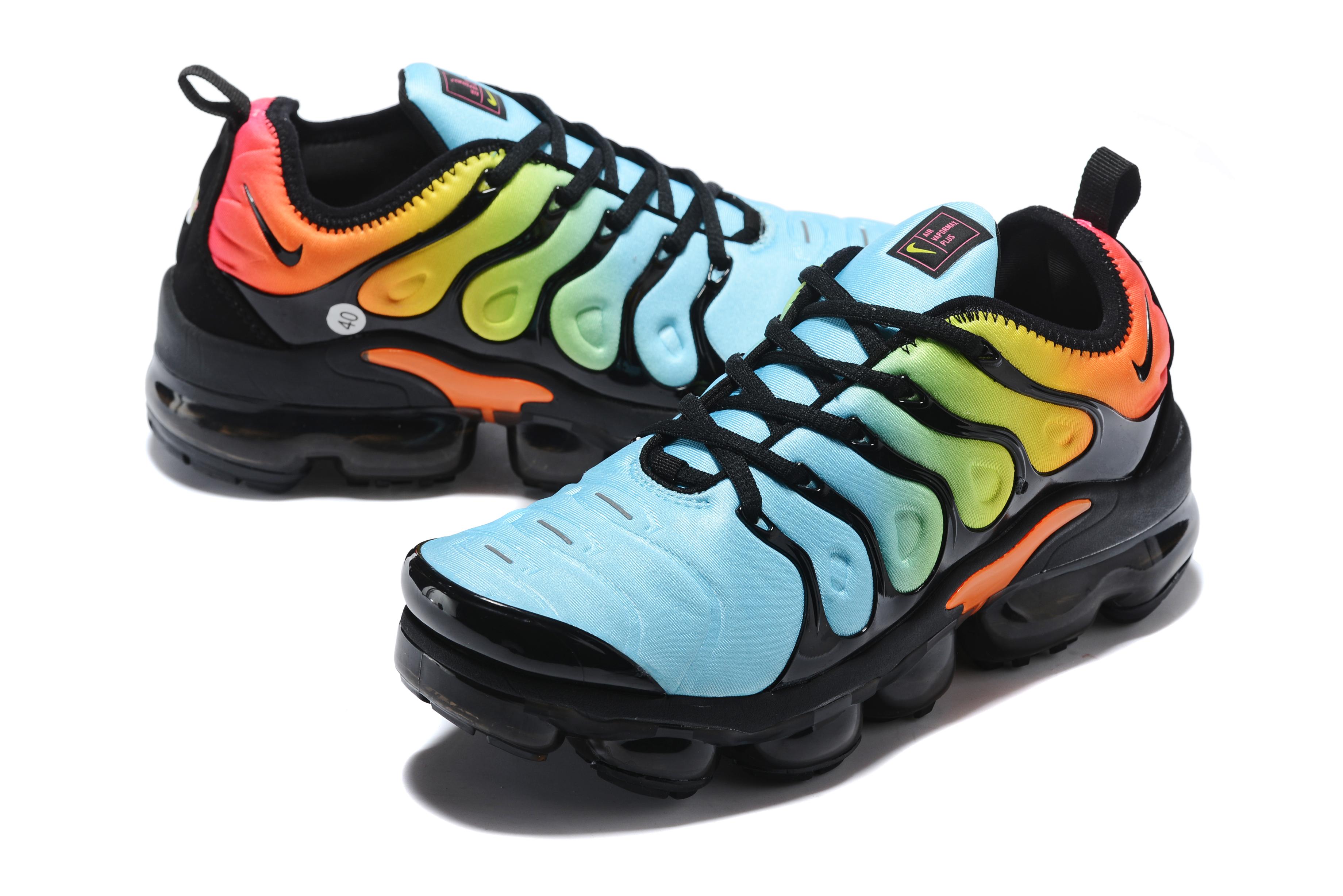 cheaper d18e4 df82d Nike Air Max TN Plus Jade Blue Orange Black Shoes For Women ...